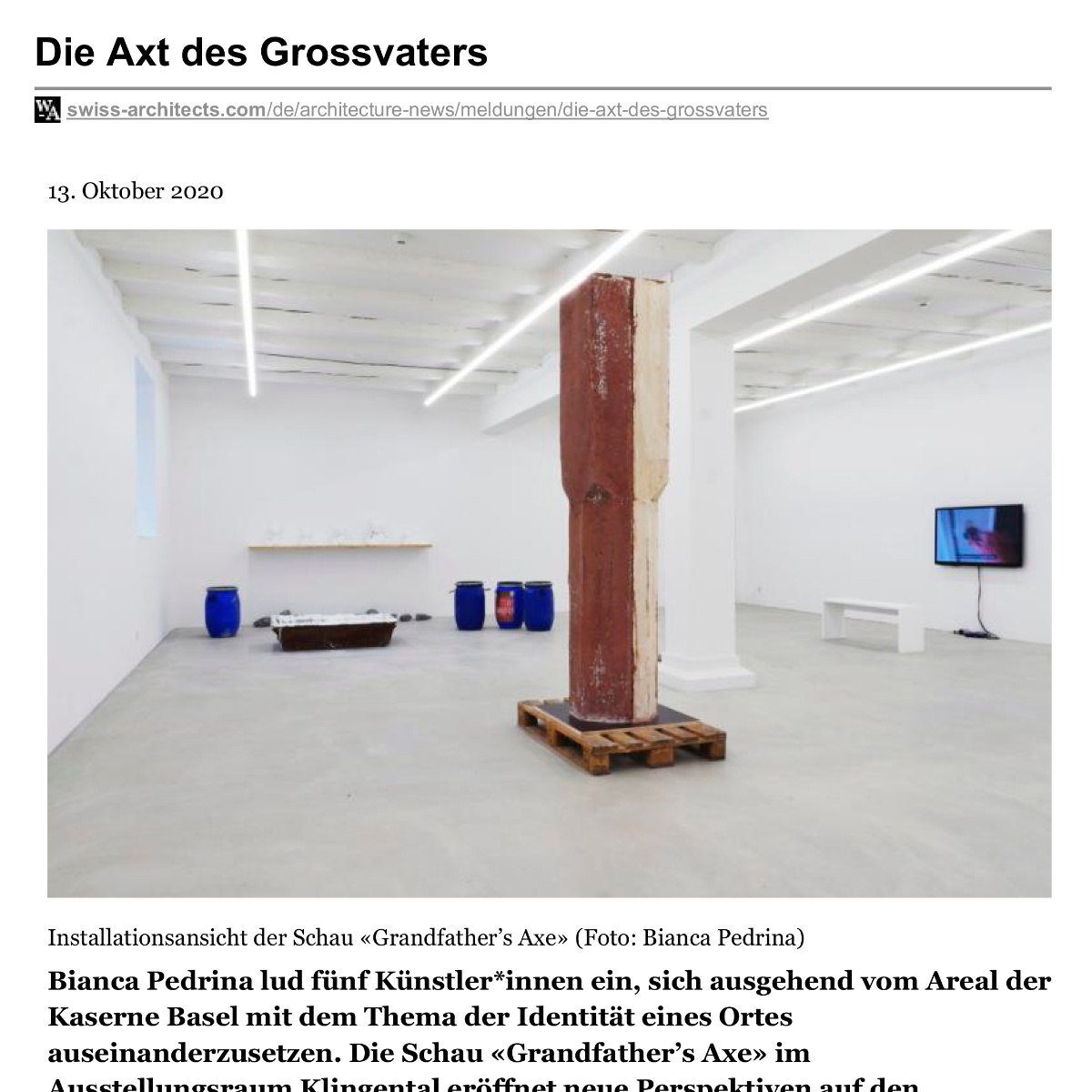 Grandfather's Axe – swiss-architects.com